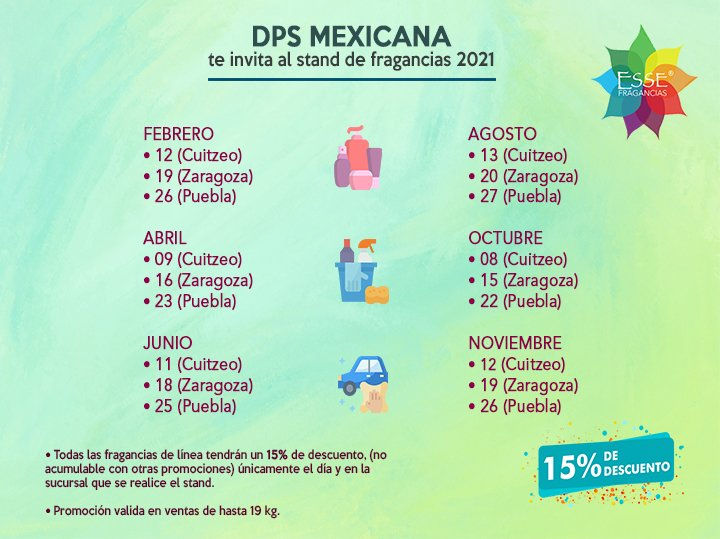 DPS MEXICANA te invita al stand de fragancias 2021.